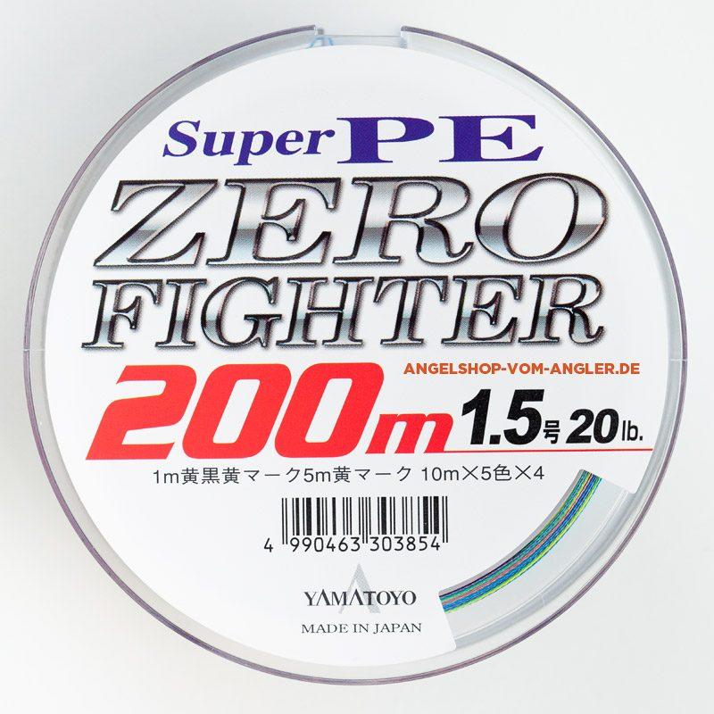 Japanische geflochtene Angelschnur Yamatoyo Super Pe Zero Fighter 200m 1.5 20lb