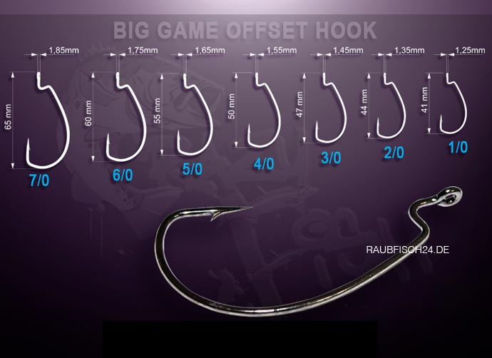 Crazy Fish Offset-Haken BIG GAME OFFSET HOOK