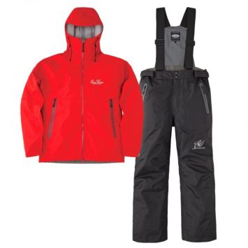 Ever Green E.G. Rain Suit EGRS-302 Rot - Schwarz